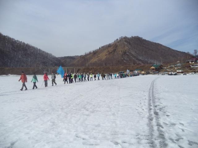лед переход по Байкалу.